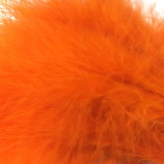 plumes de marabou orange montage streamer