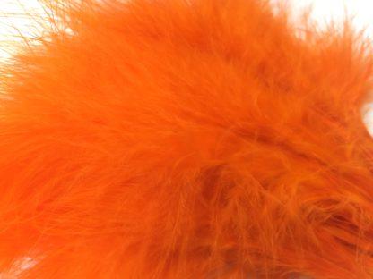 plumes de marabou orange montage streamer