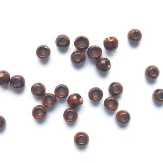 billes laiton marron noir