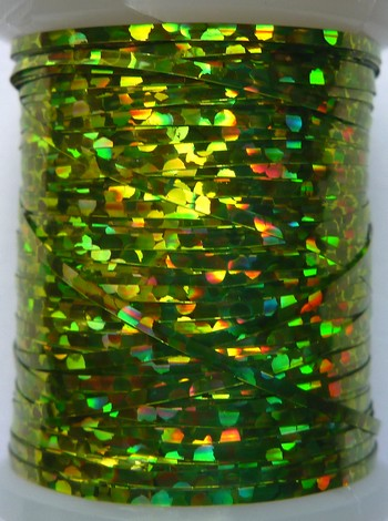 tinsel holographic olive